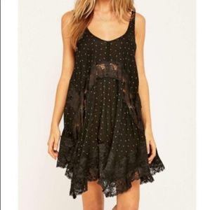 Free People She Swings Lace Combo Swing Slip Dress